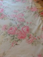 STUNNING PAIR OF LARGE LAURA ASHLEY CURTAINS WITH PELMET & TIE BACKS