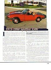 1973-1980 Triumph Spitfire 1500 Article - Must See !!