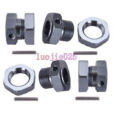 SET 17mm Wheel Hex Mount Hub Nuts &Pin For HSP RC 1/8 BUGGY Tires Tyre Rim 81011