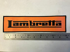 Lambretta LARGE BACK PATCH (Black/Orange) - Embroidered - Iron or Sew On