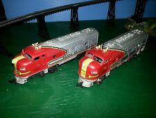 Tyco Santa Fe F-9 A & B Units Engine 4015 Locomotive & Dummy Train Track Cars
