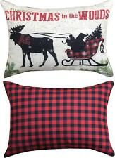 """CHRISTMAS IN THE WOODS Decorative Throw Pillow, 18"""" x 13"""", by Manual Weavers"""