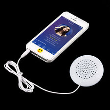 Mini White 3.5mm Pillow Speaker for MP3 MP4 Player iPhone iPod CD Radio DZ