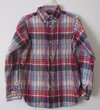 Boys 6 American Living Multi-Color Plaid Long Sleeve Button Down Shirt Oxford