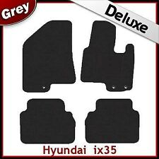 Hyundai ix35 / Tucson Mk2 2010-2015 Tailored LUXURY 1300g Carpet Car Mats GREY