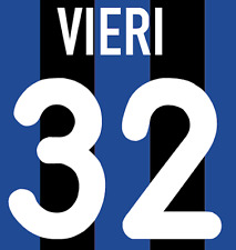 Inter Milan Vieri Nameset Shirt Soccer Number Letter Heat Print Football H 00