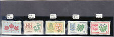 CANADA Provincial Flowers #s 417 - 421          MNH (**)