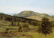 """Beautiful Oil painting Landscape Hill and Dale canvas handpainted 36"""""""