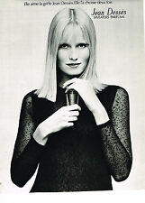 PUBLICITE ADVERTISING  1972   JEAN DESSES  swearters perfums