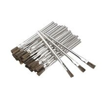 36 Piece 3/8 in. Horsehair Bristle Acid Shop Hobby Brushes Glue Oil Flux