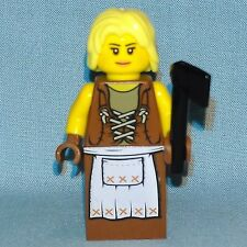 Lego - Castle - Blacksmith Wood Cutter Knight Girl Woman Minifigure Fantasy Era