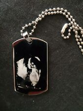 Daddy To Be Engraved Dog Tag With Scan Photo  & Chain