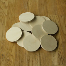 "PYROGRAPHY BLANKS PACK OF 12...75mm x ""Thicker"" 6mm BIRCH PLYWOOD ROUND COASTER"