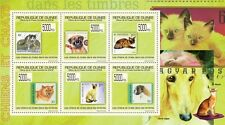 Dogs & Cats on Stamps (Belgium Finland) m/s Guinea 2009 Mi 7051/56 MNH #GU0962a