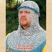 Riveted Aluminium Chain Mail Coif Medieval Chainmail Armor Chainmaille Hood