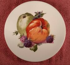"Puls Germany Desert/ Cabinet plates 8"" with fruit - Apple"