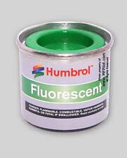 GLOSS FLUORESCENT GREEN HUMBROL Enamel Model Paint - 14ml Tin #208