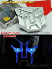 Transformers Solar Power LED Flash Strobe Light Emblem Badge Autobots car motor