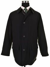Allegri Made in Italy SOLID Black Polyester Quilted Winter Car Coat Jacket 48