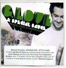 (79J) G Love & Special Sauce, Peace Love & Happi- DJ CD