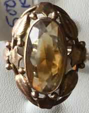 Antique Citrine 14kt Yellow Gold Ring