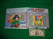 Matt Groening's The Simpsons Xmas Book Hardcover First Edition 1990 Free Ship