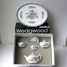 Wedgwood  KUTANI CRANE  8 Piece Miniature Teaset - (Wedgwood custom made box)