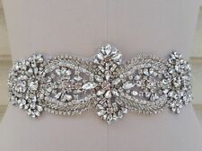 "Crystal Pearl Wedding  APPLIQUE TRIM = 15"" long TRIM = DIY!!"