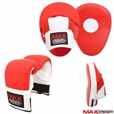 Kick Boxing Mesh Curved Focus Pad Set MMA Martial Arts Punch Bag Mitts Training