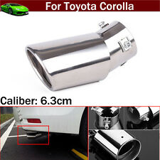 1pcs Curved Exhaust Muffler Tail Pipe Tip Tailpipe For Toyota Corolla 2004-2016