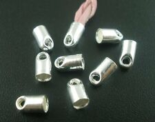 350 Cord End/tip Silver Tone Glue-in Style 7x4mm Fit 3mm