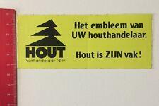 Aufkleber/Sticker: Hout Vakhandelaar NFH - Hout Is ZIJN Vak (040616145)