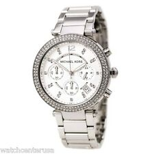 Michael Kors MK5353 Women's Parker Chronograph Steel Stop Watch