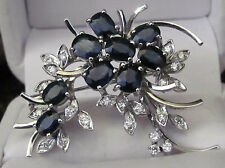 Art Deco Spinel and Diamond Floral Spray Brooch. 2.75 Carats. 6.916 Grams. WOW
