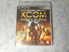 XCOM ENEMY WITHIN COMMANDER EDITION - SONY PS3 PAL ITALIANO COMPLETO COME NUOVO