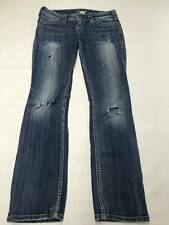 Womens SILVER Distressed Destroyed Mckenzie Slim Bootcut Sz 26 Jeans