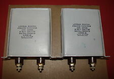 Pair, General Electric Model Pyranol Capacitors, 10 MFD, 1000 Volts for Tube Amp