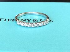 Tiffany & Co Platinum Diamond SHARED SETTING 2.2 MM .27 CT RETAIL $3900 Size 5