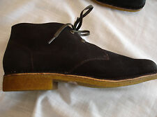 New Mens HUSH PUPPIES NORCO Dk Brown Suede Chukka Boot Shoes Sz 10 M NIB