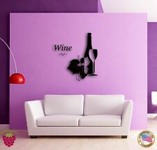 Wall Sticker Vine Wine Bottle Cool Decor for Bar or Bedroom  z1369