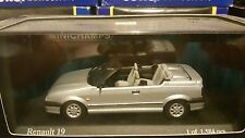 NEW MINICHAMPS 1992 RENAULT 19 CABRIOLET  SILVER 1/43 SCALE