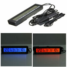 Car Auto LED Digital Clock Thermometer Indoor Outdoor Temperature Voltage Meter