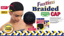 Freetress Braided Cap Finished Adjustable For Crochet Braids Weave Hair - Black