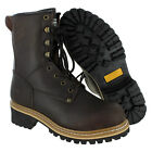 Men's Rugged Blue Pioneer Logger Boot - Steel Toe - Work Boots
