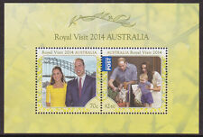 2014 Royal Visit by William, Catherine & Prince George - MUH Mini Sheet