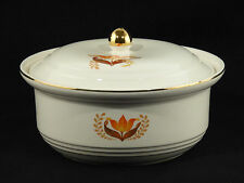 Bakerite Harker COVERED CASSEROLE DISH with Tulip