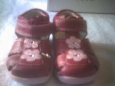 CLARKS FIRST SHOE COLLECTION GIRL'S *SOFTLY SAND* COLOR RASPBERRY SIZE 4.5 M
