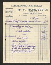 """CHAMPAGNOLE (39) L'HORLOGERIE FRANCAISE / HORLOGES """"P. MARIE-SEBILE"""" en 1948"""
