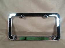 Signal Dynamics Chrome Motorcycle License Plate Frame Top/Bottom Holes Off Set