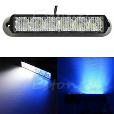 6 LED DRL Truck Emergency Beacon lampe stroboscopique danger Voyant blanc + bleu